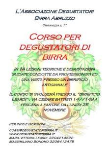 Pescara corso per degustatori di birra