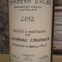 Barbera 2012 Azienda Agricola Giovanni Canonica