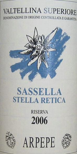 Sassella stella retica riserva 2006 di Arpepe