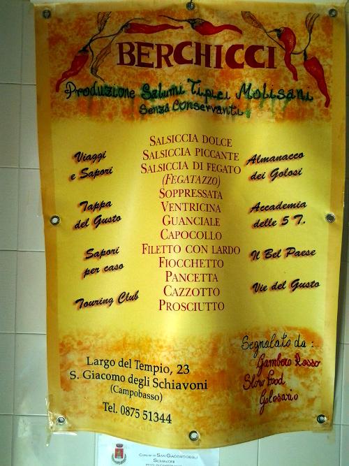 La Macelleria San Giacomo degli Schiavoni listino Salumi
