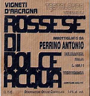 Testalonga Rossese di Dolceacqua 2011 di Antonio Perrino