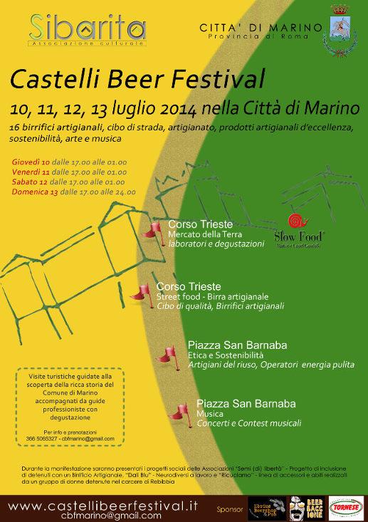 Castelli Beer Festival 10-13 luglio 2014 a Marino