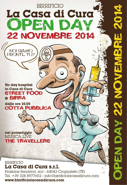 Open day al birrificio La Casa di Cura