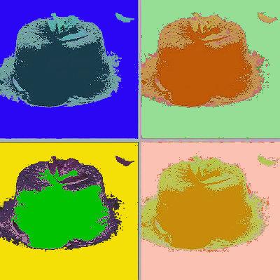 tortino al cioccolato bianco andy warhol