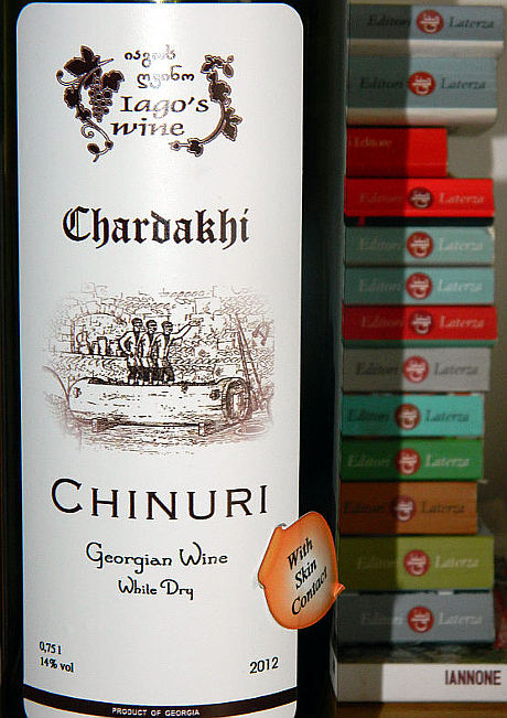 Chardakhi Chinuri 2012 etichetta fronte