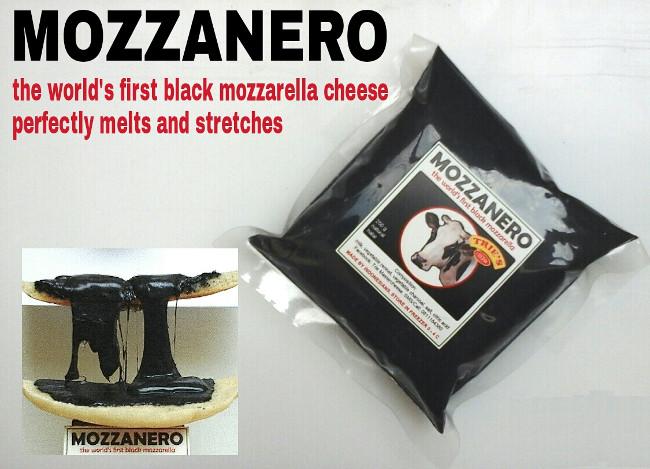 mozzarella al carbone vegetale nero