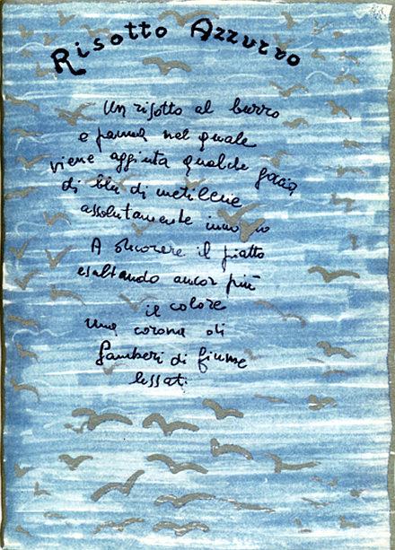 bruno munari man ray e il risotto blu