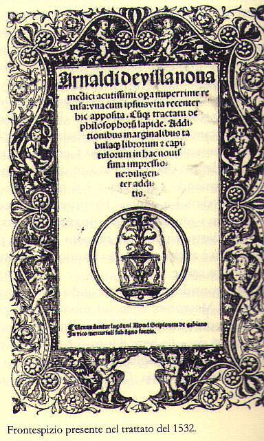 trattato sui vini arnaldo di villanova antica copertina