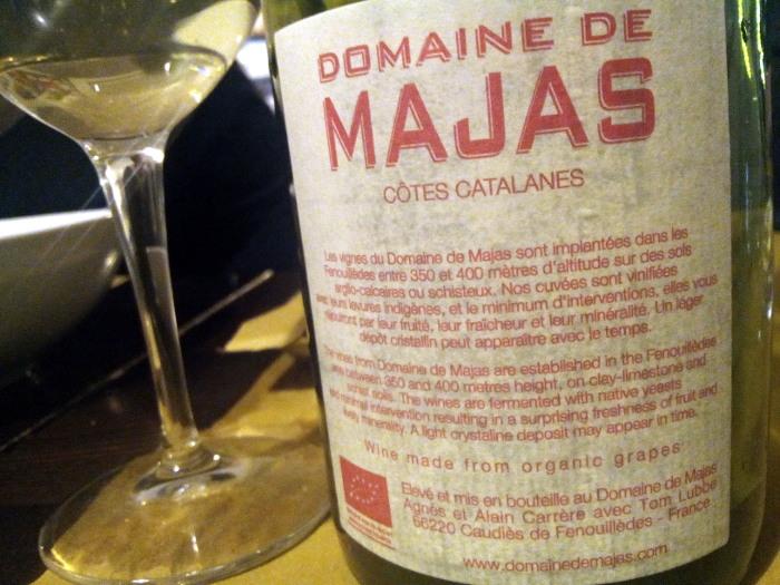 Côtes Catalanes Majas Blanc etichetta retro