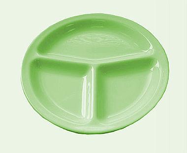 piatto a scomparti verde
