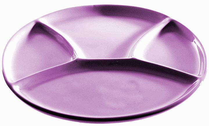piatto a scomparti viola