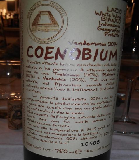Coenobium 2014 bottiglia 1