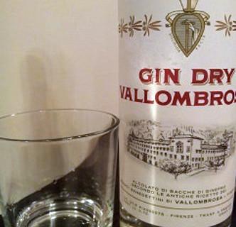 Gin dry Vallombrosa bottiglia