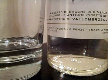 Gin dry Vallombrosa dettaglio