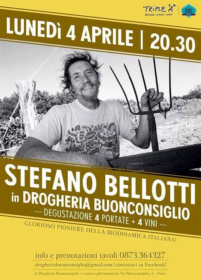 Stefanno Bellotti in drogheria buonconsiglio a Vasto