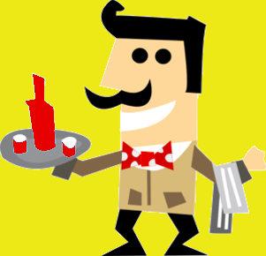 cameriere ansiogeno con baffi