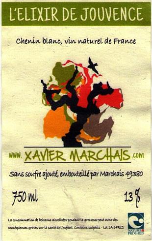 Elixir de Jouvence Xavier marchais etichetta