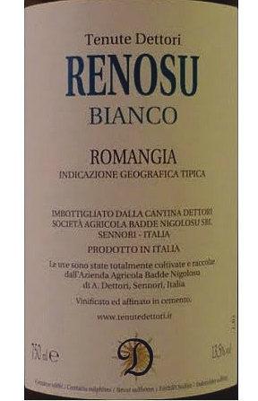 ingredienti del vino renosu dettori