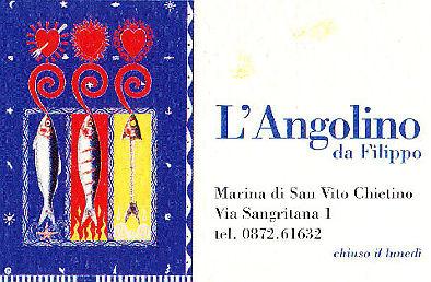 l'angolino da Filippo san vito chietino biglietto da visita