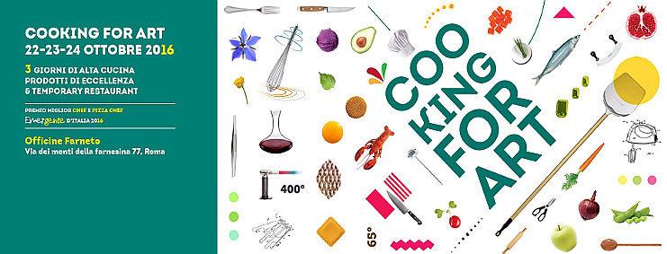 Cooking For Art 2016 Roma finalissima alle Officine Farneto