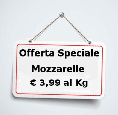 mozzarelle in offerta speciale cartello
