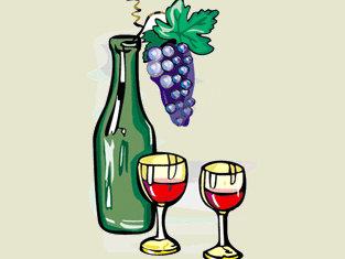 vino novello for dummies bottiglia e calici