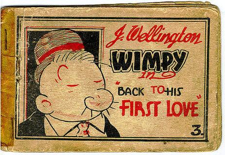 Poldo eroe del fast food fumetto vintage