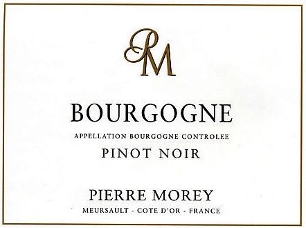 Bourgogne Pinot noir Pierre Morey etichetta