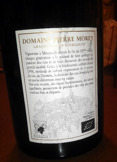 Bourgogne Pinot noir Pierre Morey retro