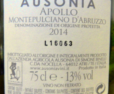 ausonia apollo montepulciano retro