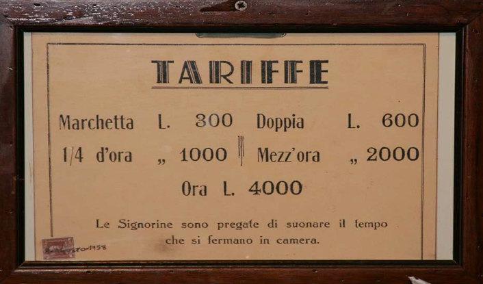 marchette tariffario