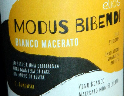 Elios Bianco macerato modus bibendi etichetta