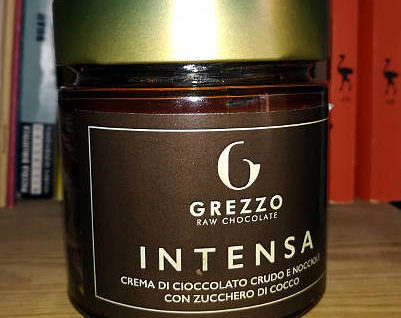 Intensa, crema spalmabile di cioccolato crudo grezzo raw chocolate