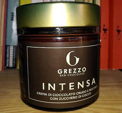 Intensa, crema spalmabile di cioccolato crudo grezzo raw chocolate