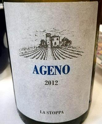 Ageno 2012 La Stoppa etichetta