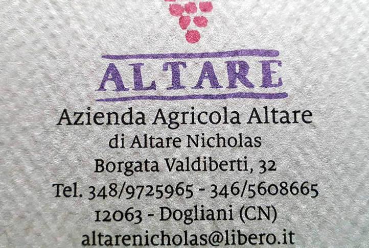 Dogliani 2015 Nicholas Altare indirizzo