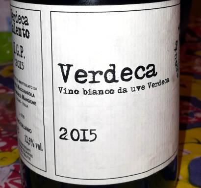 Verdeca tenuta Macchiarola 2015 etichetta