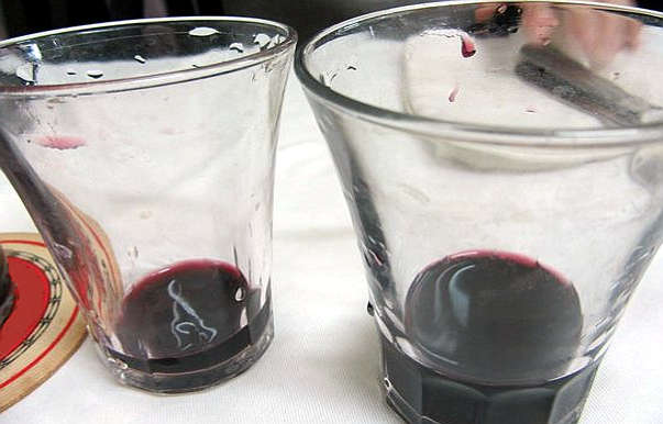 Non mi piace il vino alla spina bicchieri