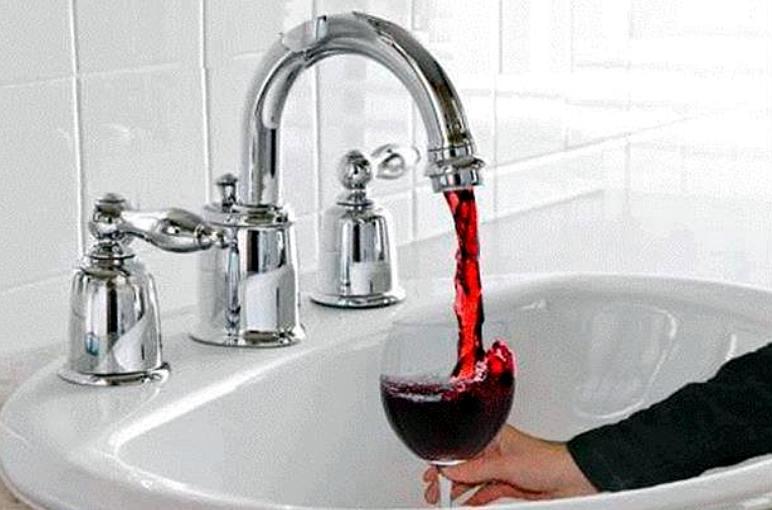 Non mi piace il vino alla spina lavandino