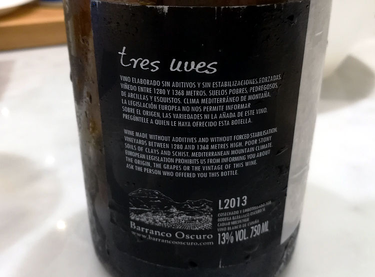 Tres uves 2013 etichetta retro