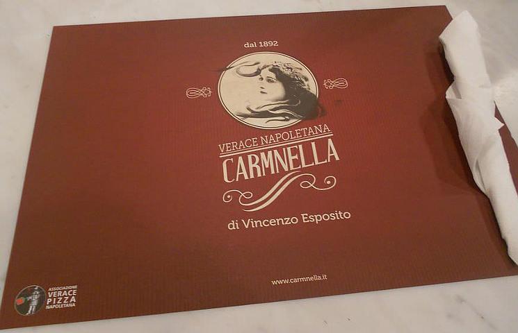 Carmnella Napoli tovaglietta