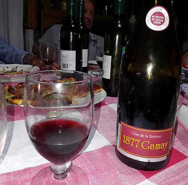 1877 Gamay Close de la Briderie in tavola