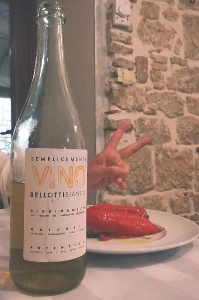 Semplicemente Bellotti bianco 2017 bottiglia a tavola