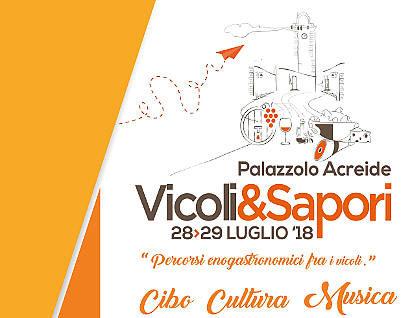 Vicoli&Sapori 2018 palazzolo acreide 28 e 29 luglio 2018 locandina piccola