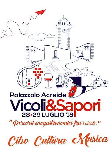Vicoli&Sapori 2018 palazzolo acreide 28 e 29 luglio 2018 locandina