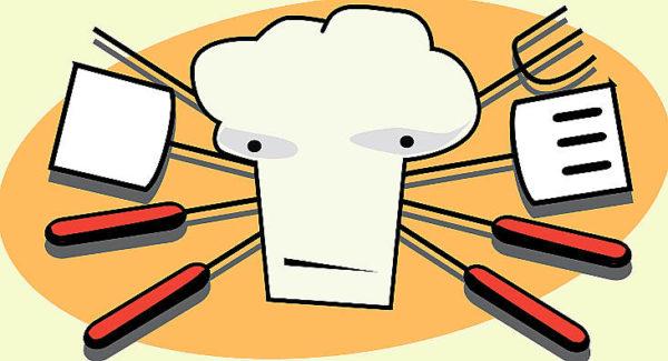 cooking show cui prodest cuoco con padelle