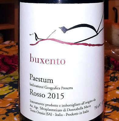 Buxento 2015 silva plantarium torre orsaia etichetta