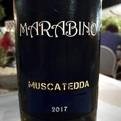 Muscatedda Marabino 2017 etichetta fronte
