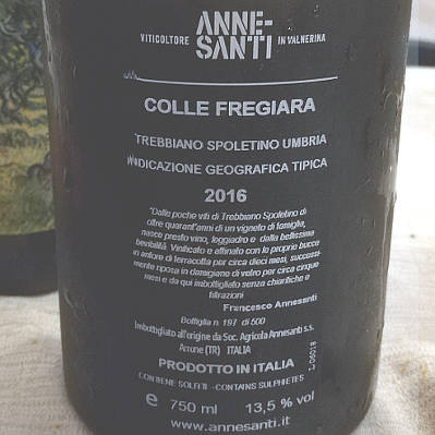 colle fregiara 2016 francesco annesanti trebbiano spoletino
