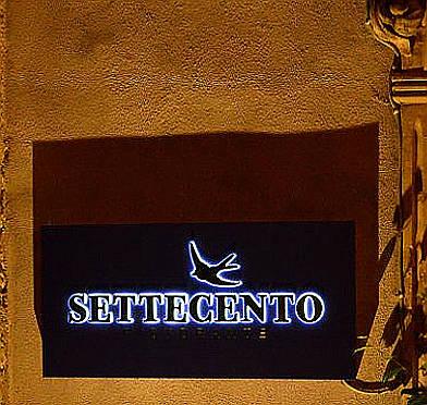 ristorante settecento Palazzolo Acreide insegna